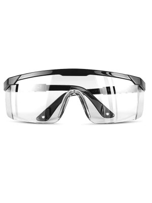 Black Anti-Spatter Goggles Adjustable Temple For People
