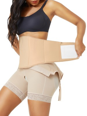 Nude Post Surgery Compression Abdominal Board Flatten Tummy
