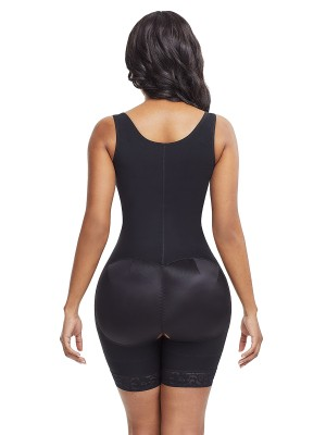 Ladies Black Plus Size Underbust Bodysuit Zipper Hourglass
