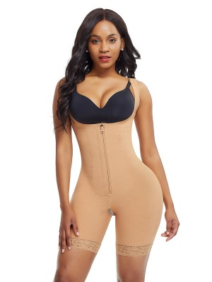 Simplicity Skin Color Shoulder Latex Body Shaper Queen Size