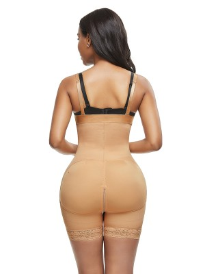 Figure Shaping Skin Color Adjustable Strap Bodysuit Plus Size