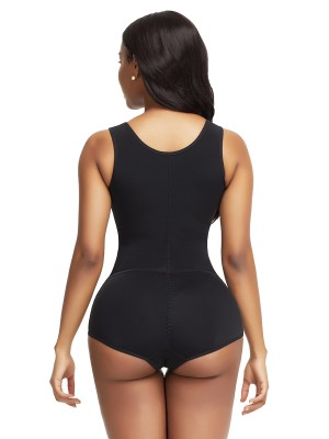 Spontaneous Heating Black High Waist Body Shaper Shoulder Hooks Seamless
