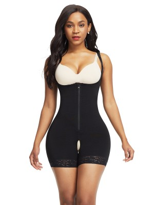 Figure Compression Black Adjustable Straps Underbust Body Shaper
