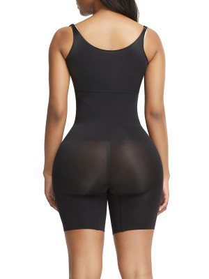 Ultimate Slimmer Black Full Body Shaper Adjustable Straps Seamless