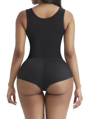 Superfit Everyday Black 3 Rows Hooks Body Shaper High Cut High Power