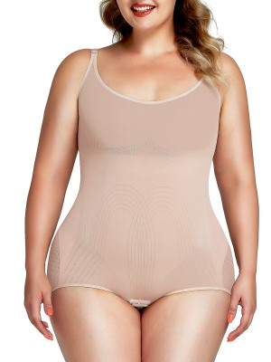 Weight Loss Nude Big Size Stretch Body Shaper Adjustabe Straps