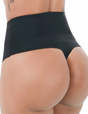 Seamless High Waisted Black Butt Lifter Panty