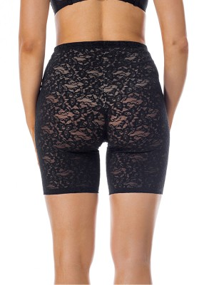 Slimming Black Lace Tummy Boyshort Shaper Butt Lift