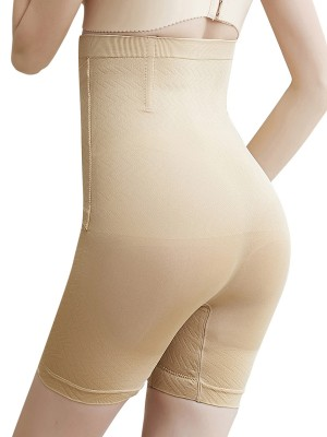 Slimming Stomach Khaki Seamless Panty Hook-and-Eye Closure Perfect-Fit
