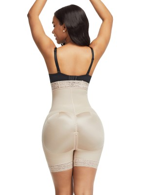 Shaping Skin Color Butt Lifter High Waist Tummy Control Slim Fit