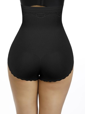 Instant-Slimmer Black Seamless Lace Butt Enhancer Plus Size