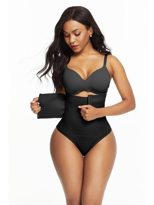 Seamless Black Hooks Closure Butt Lifter High Rise Instantly Slims