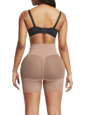 Skin Color Thigh Length Shorts Shaper High Rise Slimming Legs