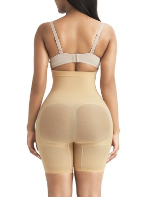 Strengthen Apricot Butt Lifter Tummy Control High Rise Back Support