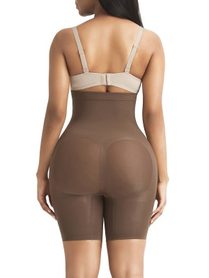 Sexy Brown Butt Enhance Seamless Shaper High Waist Tummy Trimmer