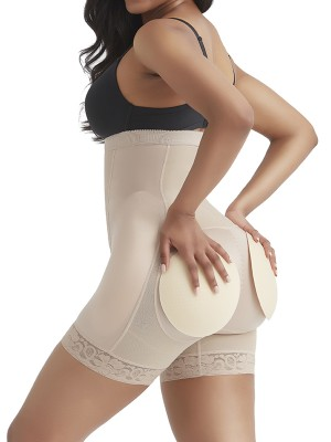 Complexion Detachable Pads Shaper Shorts Lace Trim Slimming Legs