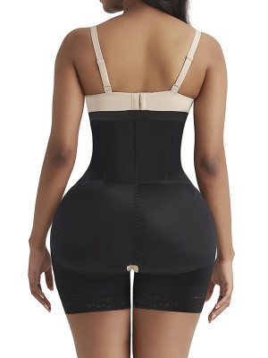 Must-Have Black High Waist Butt Enhancer Zipper Lace Body Shapewear