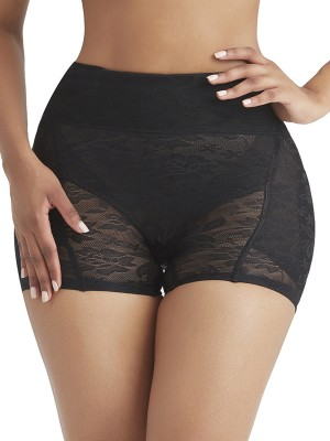 Essential Black Lace Butt Lifter Removable Sponge Pad Slim Waist