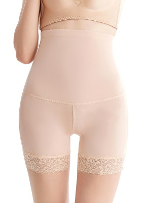 Supportive Apricot Butt Lifter Panties Padded High Waist High Power