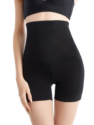 Durable Black Open Butt High Waisted Shaper Panty Comfort Fashion