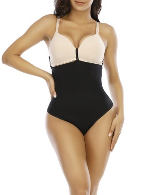 Black Seamless Shaper Queen Size High Cut Smooth Silhouette