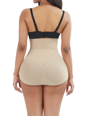 Skin Color High Waist Sheer Mesh Panty Shaper Figure Sculpting