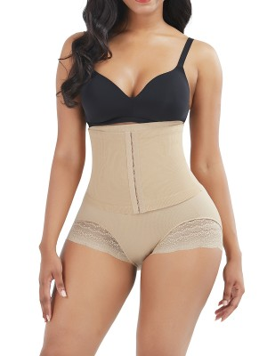 Exquisite Skin Color High Waist Sheer Mesh Panty Shaper Figure Sculpting