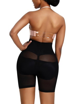 Slimmed Black Butt Lifting Mesh Spliciling Big Size