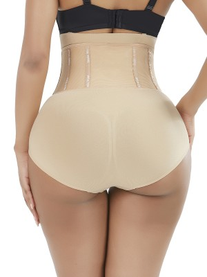 Tummy Training Skin Color Shaper Shorts 4 Steel Bones High Waist