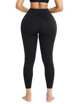 Black Tummy Control High Waist Fleece-Lined Legging Compression