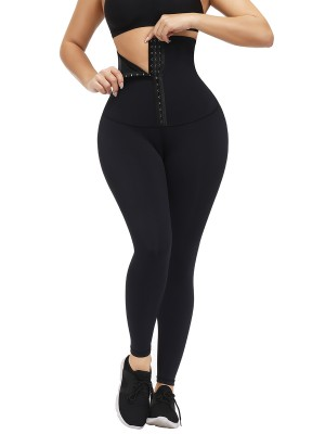 Black Hooks Waist Trainer Shapewear Leggings Slimming Belly