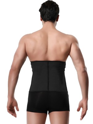 Bright Black Men Neoprene Waist Trainer Large Size Leisure