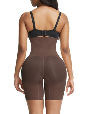 Deep Coffee Seamless Tummy Firm Control Shorts Shapewear Ultra Light
