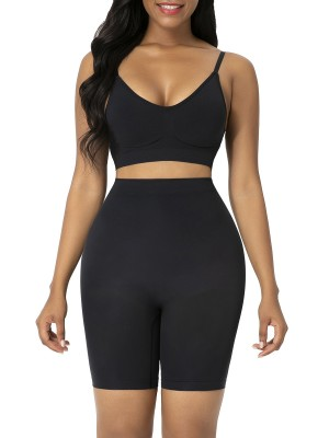 Black High Waist Butt Lifter Shapewear Shorts Smooth Silhouette