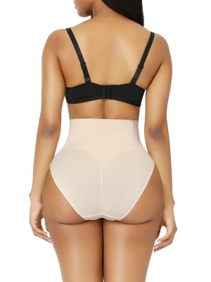 Nude Tummy Control Butt Shaping Panties Seamless Good Elastic