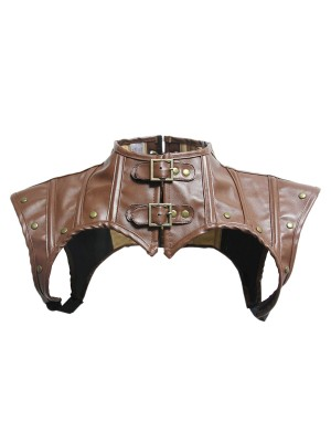 Flat Out Khaki PU Leather Adjustable Crosets Shawls Unique