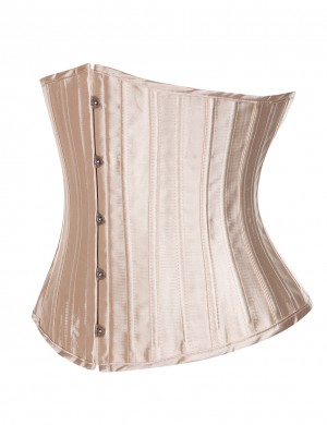 Good Nude Artificial Silk Large Size Corsets 26 Steel Boned Thong High Quality