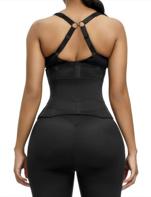 Black Queen Size Neoprene Waist Trainer With Sticker For Training