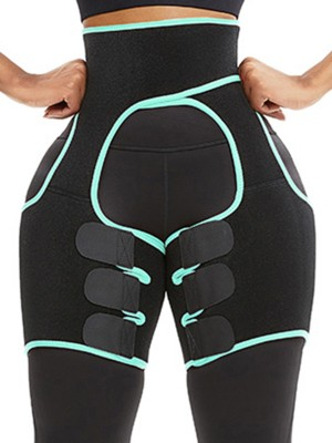 Magic Light Green Sticker Cut Out Patchwork Thigh Trainer Super Faddish