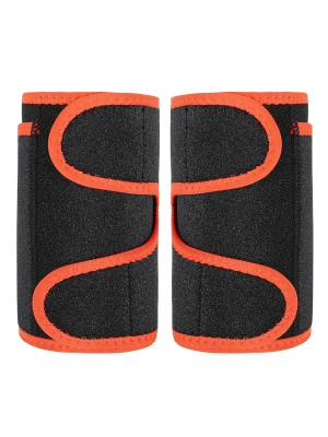 Streamlining Orange 2Pcs Neoprene Arm Trimmers With Pockets Medium Control