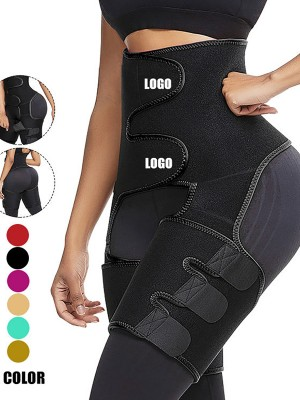 Neoprene Waist And Thigh Trainer Butt Lifting Black Slimming Leg