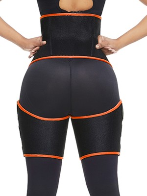 Tight Orange Sticker High Waist Neoprene Thigh Trainer Anti-Slip