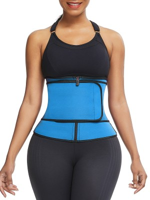 Exquisite Blue Big Size Neoprene Shaper Front Zipper
