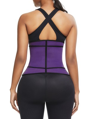 Sleek Purple Sticker Plus Size Neoprene Waist Shaper