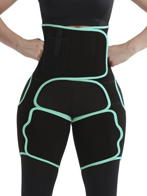 Curve Creator Light Green Tummy Control Thigh Slimmer Neoprene Shapewear