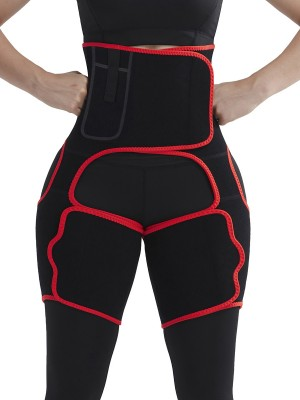 Breathe Freely Red High-Waist Thigh Trimmer With Pocket Distinctive Look