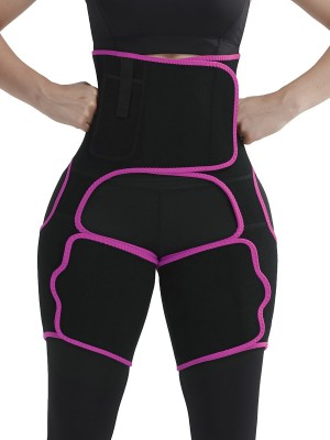 Rose Red Sticker Neoprene Pocket Thigh Trainer Highest Compression