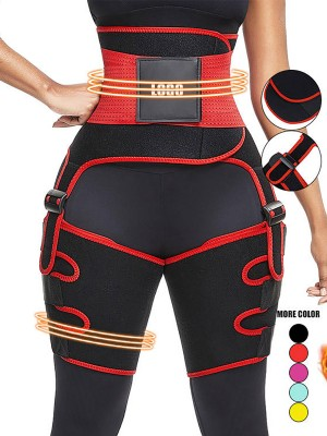 Red Neoprene Thigh Trainer High Waist Adjustable Belts Custom Logo
