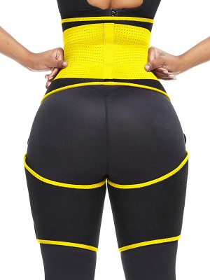 Extra Firm Yellow Adjust Sticker Neoprene Thigh Trainer Best Tummy