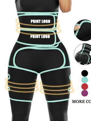 Custom Logo Light Green Neoprene High Waist Thigh Shaper Sticker